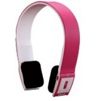 Bluetooth Headset with Hidden Mic, Bluetooth V2.1, Volume and Song Control (Pink)