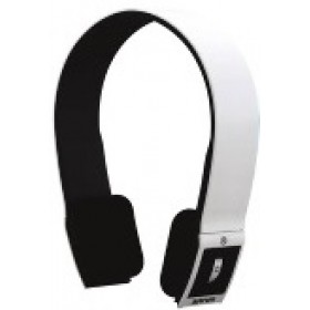Bluetooth Headset with Hidden Mic, Bluetooth V2.1, Volume and Song Control (White)