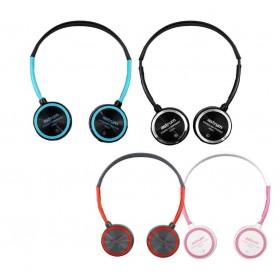 Headset Slim + Wire Mic Black + Blue
