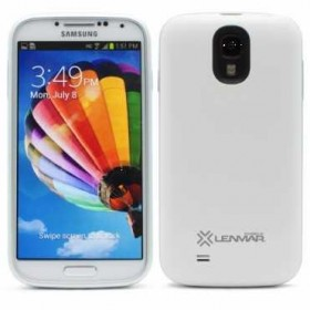 Lenmar Samsung Galaxy S4 battery case, 2600mAh, White