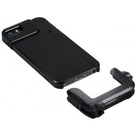 olloclip Quick Flip Case for iPhone 5 + Pro Photo Adapter: Translucent Black