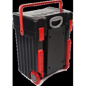 Cadii Bag - model B06 (Black Lid - Black Body -Red Trimmings)