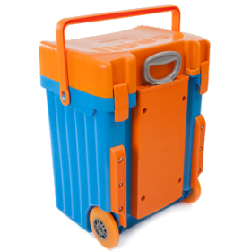 Cadii Bag - model B17 (Orange Lid - Blue Body)