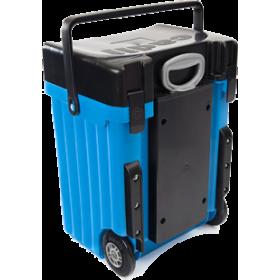 Cadii Bag - model B20 (Black Lid - Light Blue Body)