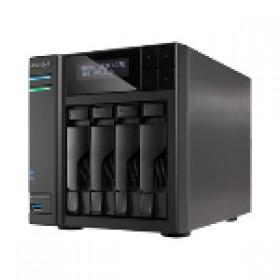 ASUSTOR 604T 4BAY NAS ATOM, 1GB,GBEX2,USB3,SATA3