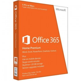 OFFICE 365 HOME 32/64 ENG 1 YR SUBSC MEDIALESS