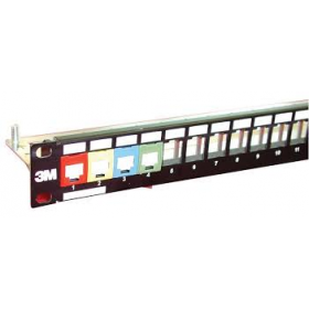 3M 24 PORT PANEL FOR COPPER CAT5E / CAT6 / CAT6A