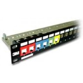 3M 24 PORT PANEL COPPER CAT5E-POPULATED WITH KEYST
