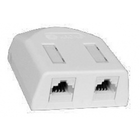 KRONE CAT5E SMK2 UTP DOUBLE OUTLET IVORY