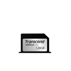 Transcend 128GB JetDrive Lite 330 Flash Expansion Card for Mac - MLC - Seq. Read: Up to 95MB/s Seq. Write: Up to 60MB/s - Flush tailor-made design - Limited lifetime warranty - Transcend JetDrive Lite 330 - Compatible with MACBOOK PRO RETINA 13""