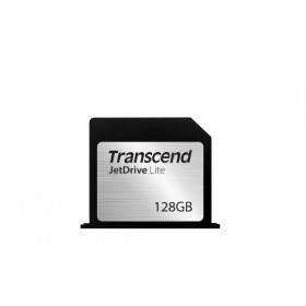 "Transcend 128GB JetDrive Lite 350 Flash Expansion Card for Mac - MLC - Seq. Read: Up to 95MB/s Seq. Write: Up to 60MB/s - Flush tailor-made design - Limited lifetime warranty - Transcend JetDrive Lite 350 - Compatible with MACBOOK PRO RETINA 15"" - MI"